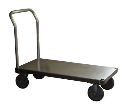 """Aluminum Platform Truck 24"""" x 48"""" Smooth Plate with Non-Marking Wheels 2400#"""