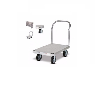 """Magliner 24"""" wide x 48"""" Long Aluminum Platform Truck with 1600# Capacity Casters"""