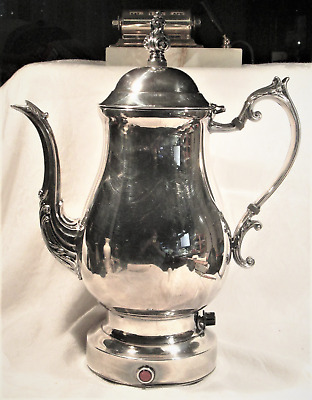 Vintage WM Rogers & Son Victorian Rose Silver plated 1901 Tea/Coffee Pot