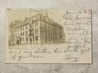 Antique c. 1907 Postcard: St. Joseph's Hospital 4th & Reservoir Milwaukee WI