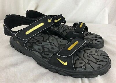 3011cbf6565c ... greece vintage mens black yellow nike acg sport hiking sandals strappy  size 11 40a8f 0215f