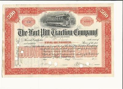 The Fort Pitt Traction Co. 1895 PA Common stock
