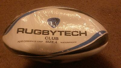 Rugbytech Club Rugby Union Ball Size 4 Midi *new*