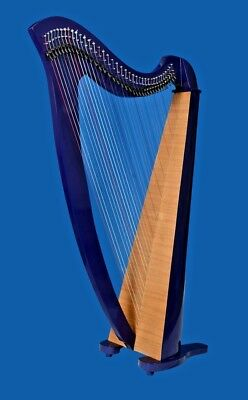New 34 Strings Lever Harp Celtic Harp Irish Harp With Deluxe Bag and Tunning Key