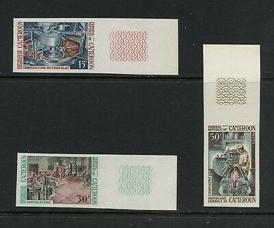 Cameroun  1969  Chocolate Industry Cacao candy IMPERF  3v.  MNH  M893