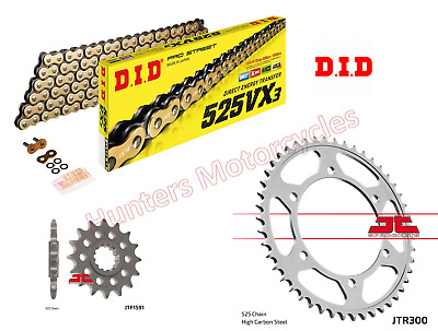 Yamaha TDM900 DID Gold X-Ring Heavy Duty Chain & JT Sprockets Kit Set