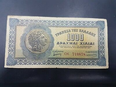 Greece 1000 Drachmai 1941 Banknote