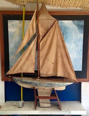Antique Pond Sailing Yacht  c1890's