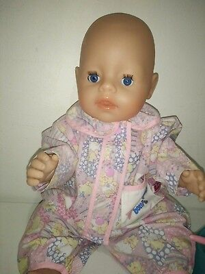 Zapf Creations Interactive Baby Born Doll Cries Real Tears Wees