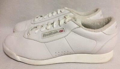 3c2bd0657a1a REEBOK CLASSIC PRINCESS Women s 8 EU 38.5 White Leather Walking Shoes 1475  ~1C-7 -  32.99