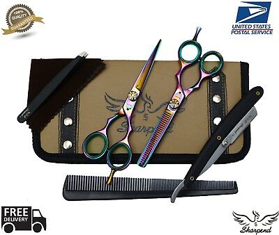 "Professional Hair Cutting Japanese Scissors Barber Stylist Salon Shears 5.5"" pro"
