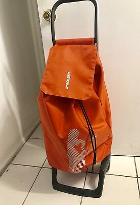 Rolser Trolley Shopping Cart -Water Proof Orange Laundry Basket, Soccer Grocery