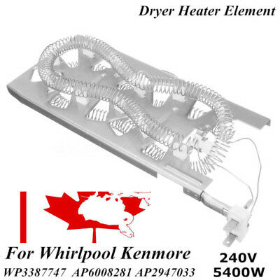 WP3387747 -Dryer Heater Heating Element fits Whirlpool Kenmore AP6008281