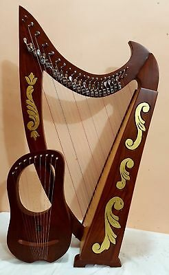 22 Strings Harp Celtic Harp With Lyre Harp 10 Metal Strings Bag and Tunning Key