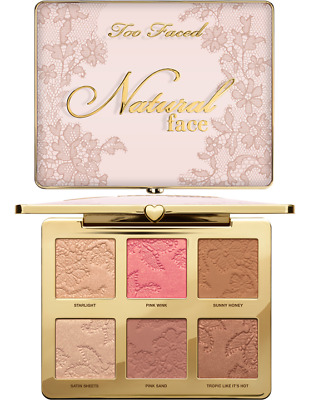 TOO FACED | Natural Face Palette | Highlight Blush Bronzer Powder Veil AUTHENTIC