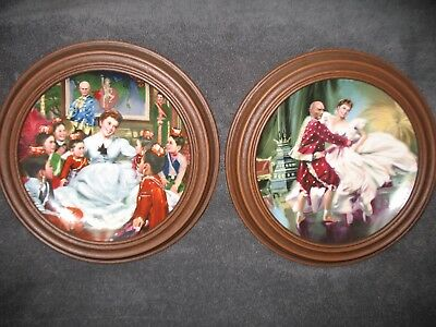 2 Edwin M. Knowles, The King and I Series Collector Plates, PLUS frames