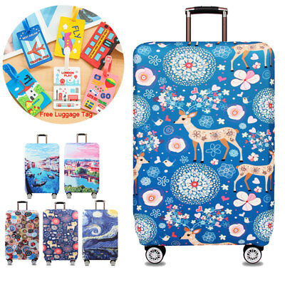 """Thick Elastic Luggage Protective Cover Travel Suitcase Protect Dust Case 18 ~32"""""""