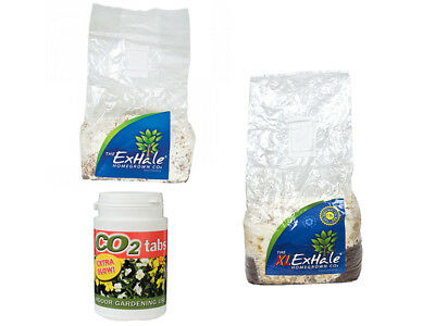 ExHale Natural  - CO2 Bags & CO2 Tabs Tub of 60 Increase Plant Health & Yield