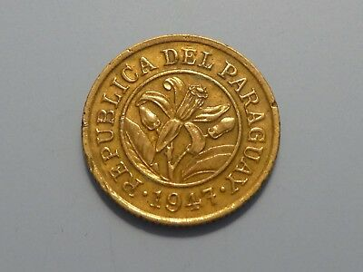 PARAGUAY 10 Centimos, 1947, Orchid Flower
