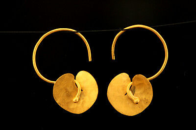Byzantine Replica Solid 24 Carat Pure Gold Earrings