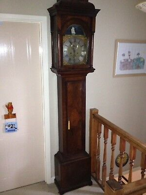 18th century rocking ship long case clock depicting HMS Victory Nelson memorial.