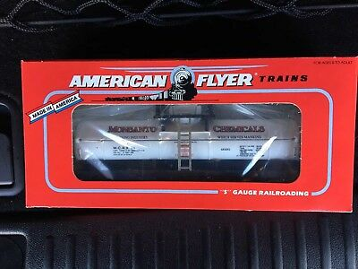 American Flyer Monsanto Tank Car in box 48495 - 1995. Never run, Rare.