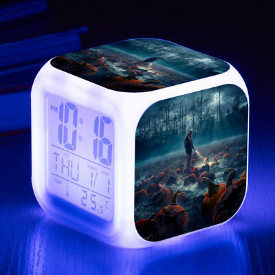 Stranger Things 7 Color LED Night Light Alarm Clock Figures Watch kid Gift Toy