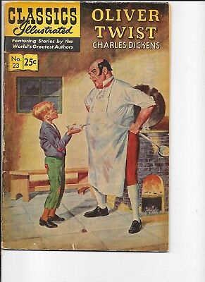 Classics Illustrated  #23  hrn 166   Oliver Twist