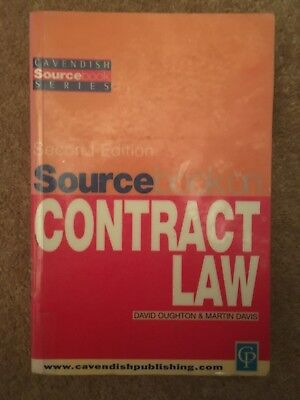 Sourcebook on Contract Law by David Oughton, Martin Davis (Paperback, 2000)