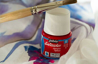 SETACOLOR pebeo OPACO FRASCO 45 ML FABRIC PAINT PINTURA TELA SETACOLOUR