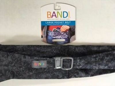BANDI Evening Scroll Large Pocket Belt FITNESS PHONES PASSPORT POCKET