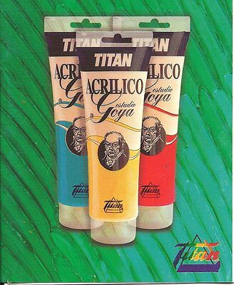 Colores Titan Acrilico Estudio Goya Tubo 125 Ml Acrylic Paint