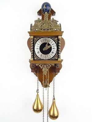 Zaanse Dutch Wall Clock Vintage Antique 8 day (Warmink Hermle Junghans Era)