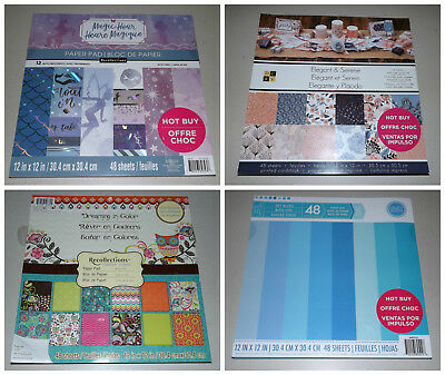 12x12 Scrapbook Paper Pad Lot Dcwv Recollections Craft Smith