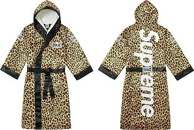 Supreme Leopard Everlast Robe Mantel M Boxing Satin X Box QChdtsrx
