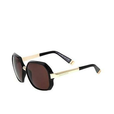 DSQUARED Womens Black+Gold DQ 0045 Oversized Butterfly Square Sunglasses NEW 7ddb09c7a50c
