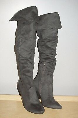 671aab53c43 Bamboo Trinity-21 Women s Winter fall spring Knee High Boots gray 7.5