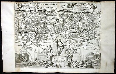 1730 Israel Holy Land Palestine Canaan map Karte Stoopendaal