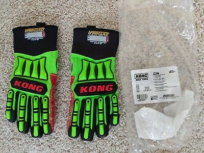 Ironclad KONG Deck Crew Cut 5 Gloves Size SMALL Green/Red