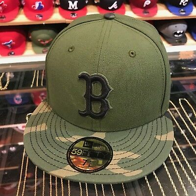 check out 74ac0 993ca New Era Boston Red Sox 2017 Memorial Day Fitted Hat Green Camo