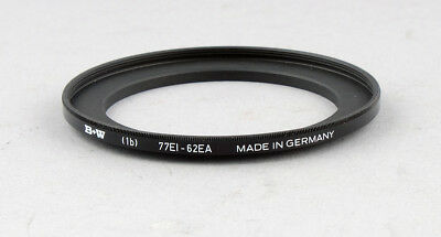 B+W Step-Up Ring 62-77mm filter - MINT