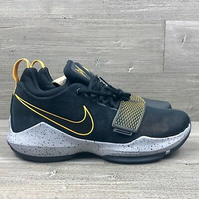 101221aa6219 Nike PG 1 Paul George Black Gold Men s Basketball Shoes 878627-006 Multi  Sizes