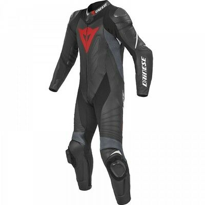 Dainese Veloster Race One Piece Real Leather Motorcycle Motorbike Suit All Sizes