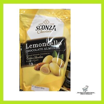 Sconza Chocolates - Lemoncello Chocolate Almonds 680g - NEW PRODUCT!!
