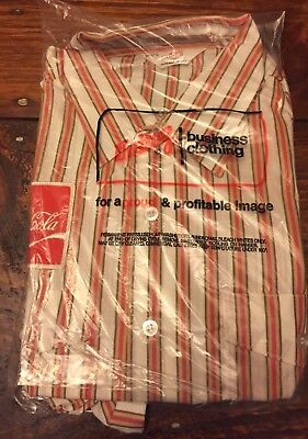 NOS 1970s VINTAGE COCA COLA COKE UNITOG SHIRT  new old stock SIZE 17