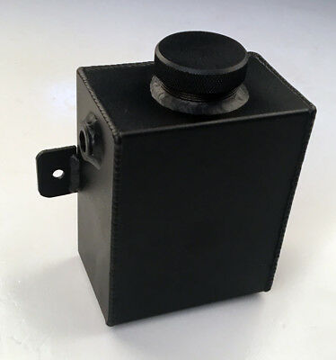 Universal Aluminum Coolant Expansion Overflow Water Tank 1.2L & Cap BLACK