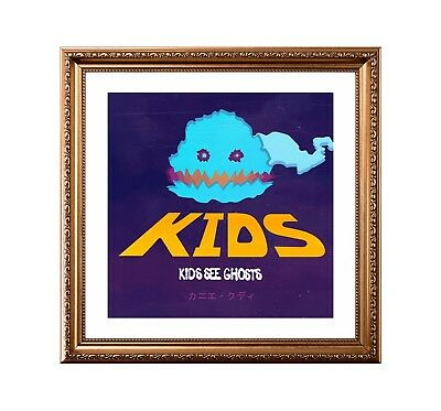 Kanye West & Kid Cudi 'Kids See Ghosts' Custom Album Cover Poster or Art Print