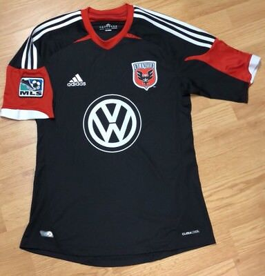 Adidas DC United MLS Soccer Volkswagon Climacool Soccer Jersey S a9407897581a