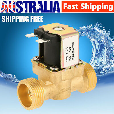 12V DC VDC Normal Closed Slim Brass Electric Solenoid Valve Water Air N/C AU