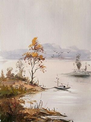 Chinese Landscape, #3  12x16 100% Hand painted Oil Painting on Canvas,